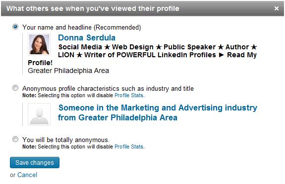 Who's Viewed My Profile LinkedIn Settings