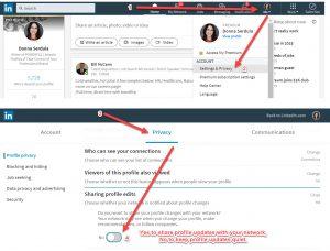 Don't alert network of LinkedIn profile updates