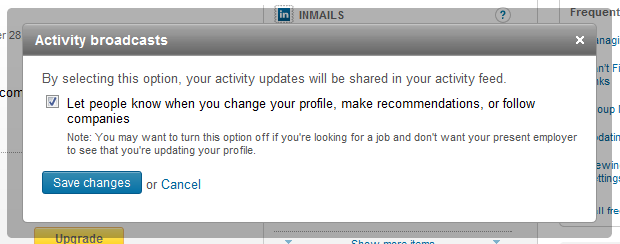 Turning Off LinkedIn Update Alerts