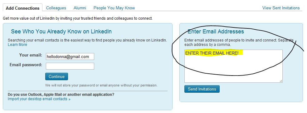 Adding a linkedin recommendation from a person not on linkedin option 1 invite them to join linkedin stopboris Images