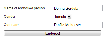 Example of a Computer Generated LinkedIn Recommendation