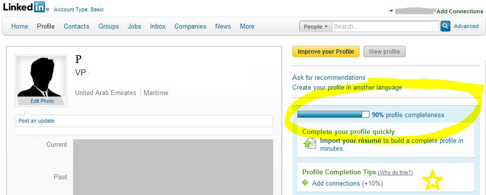 100% LinkedIn Profile Completeness