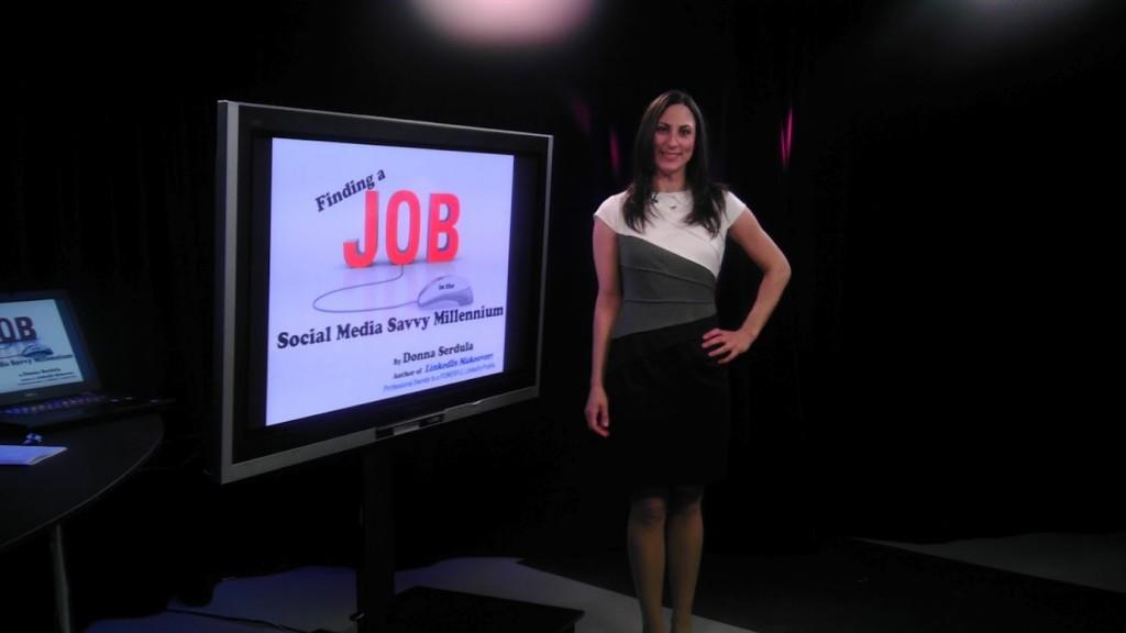 Donna Serdula presenting at NBC's Jobs Week