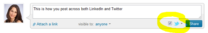 How to post on Twitter and LinkedIn