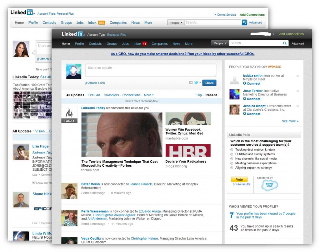LinkedIn's New Look, Design, Interface
