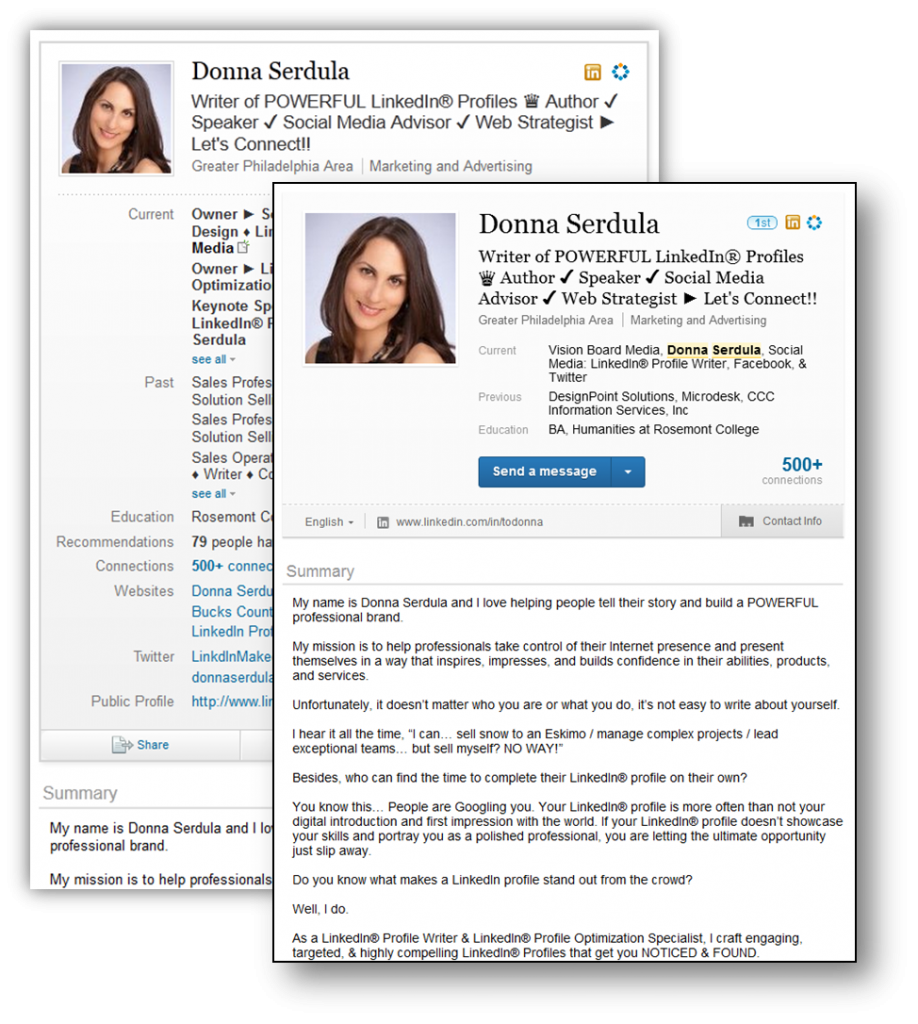design change  new look to the linkedin profile