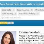 New LinkedIn Feature Endorsements