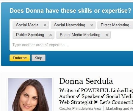 New LinkedIn Feature Endorsements
