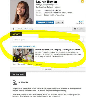 The Activity Feed is Front and Center on LinkedIn's new profile