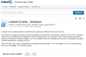 LinkedIn Events Shutdown