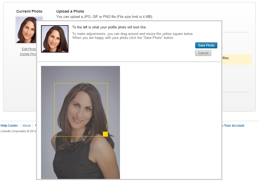 How to Crop Your new LinkedIn Profile Picture