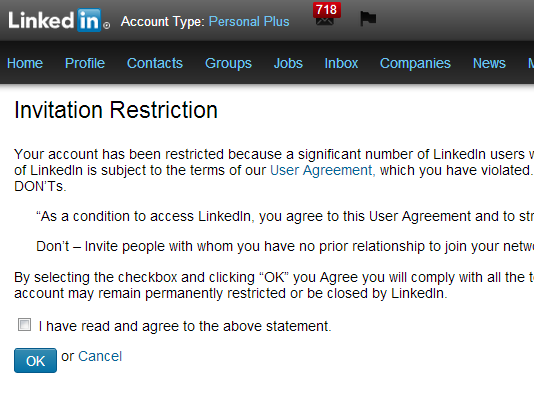 Linkedin Invitation Restriction Linkedin Makeover Linkedin