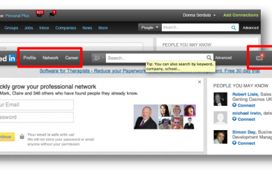 New Redesigned LinkedIn Navigation Interface