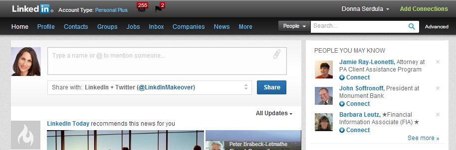 old linkedin navigation bar  u00bb linkedin makeover  linkedin