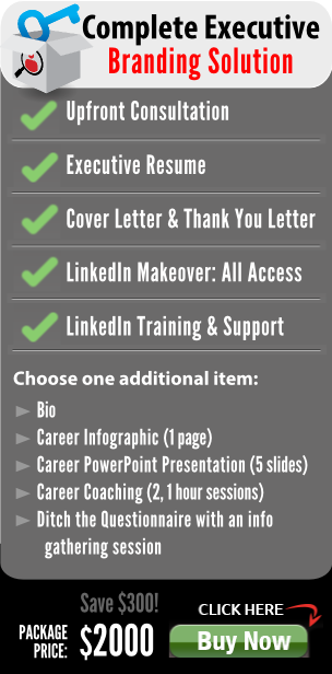 executive resume and linkedin profile branding solution