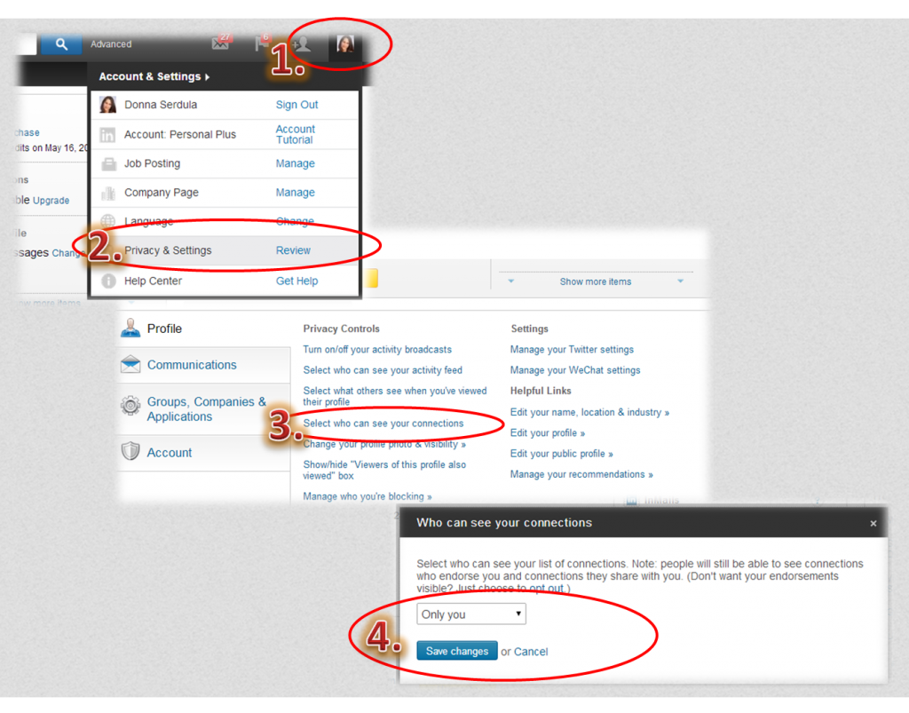 Make LinkedIn Connections Invisible