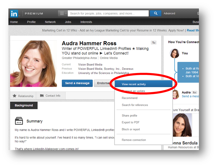 Recent Activity Returns to the LinkedIn Profile