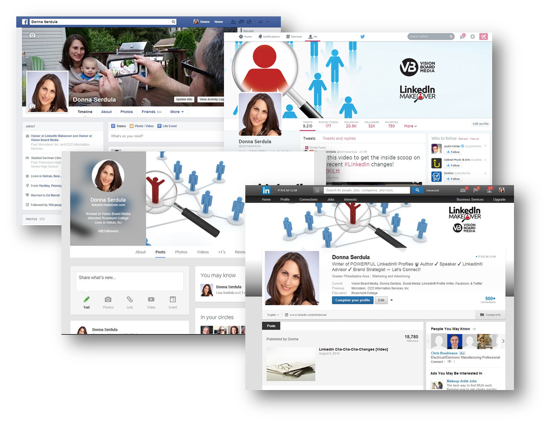 LinkedIn Customized Backgrounds Templates & Examples