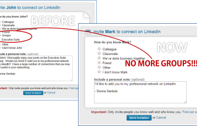 LinkedIn Groups Removed Connection Request