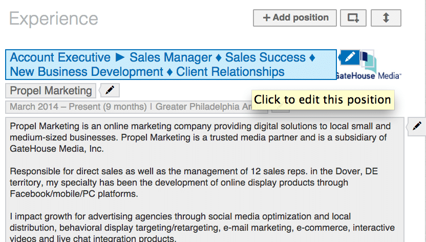 LinkedIn New Profile Interface