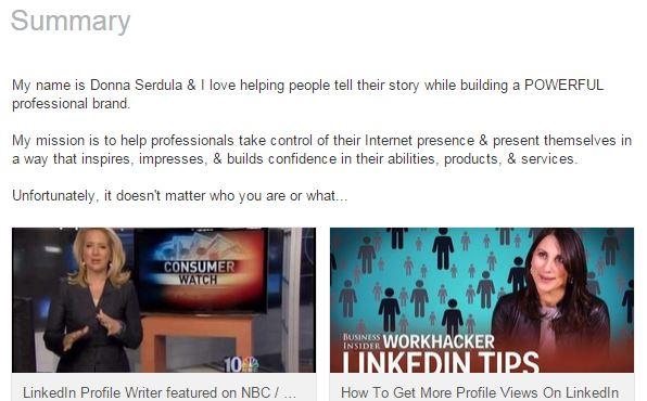 Logo in LinkedIn profile