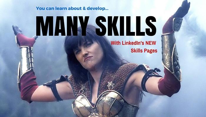 LinkedIn Skills Pages