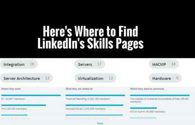Where is LinkedIn Skills Pages TN