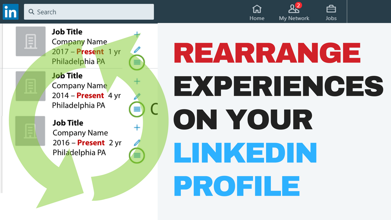 how to reorder experiences on your linkedin profile  video