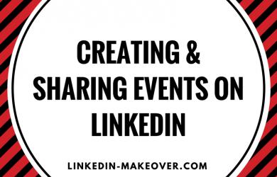 Creating Events on LinkedIn