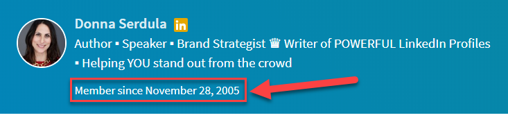 LinkedIn Profile Writer: I've been on LinkedIn a LONG TIME!