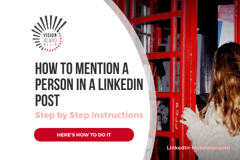 Mention person LinkedIn Post TN