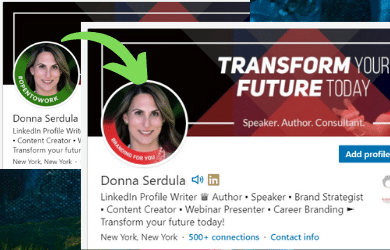 Create a different LinkedIn Profile Banner not Opentowork
