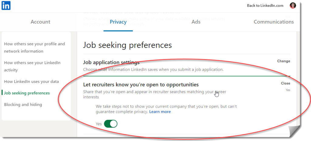 How to let recruiters know you are open to new opportunities on LinkedIn