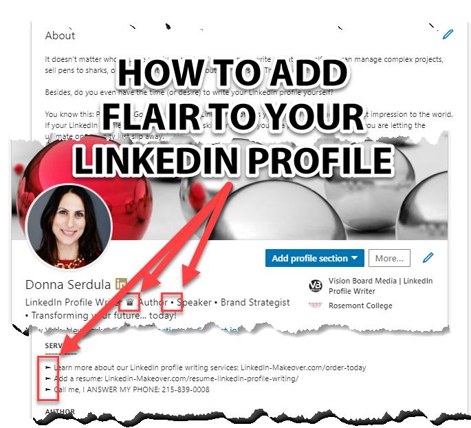 Bullets on your LinkedIn Profile