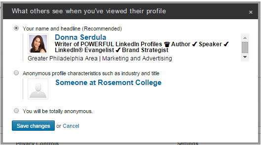 Getting Noticed On LinkedIn, stop being anonymous