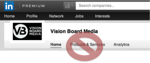 LinkedIn Removes Products & Services Tab from Company Page
