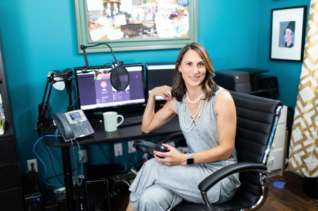 Donna Serdula at desk