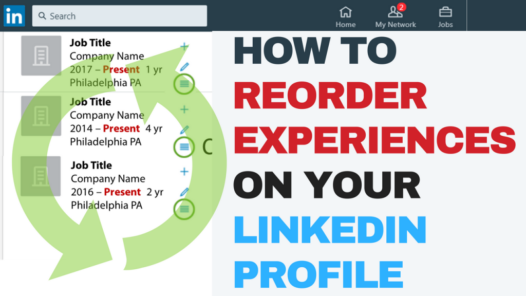 How to reorder experiences on your LinkedIn profile
