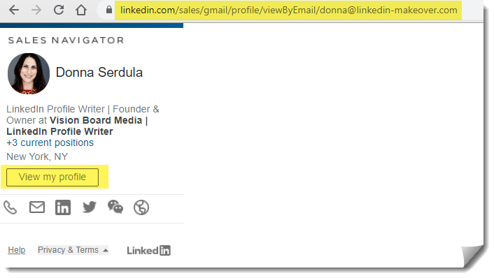 Search for LinkedIn Profile by Email Address